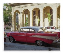 Cuban Chevy Bel Air Fleece Blanket
