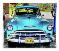 Cuban Taxi Fleece Blanket