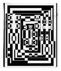 Cubical Cubes  Fleece Blanket