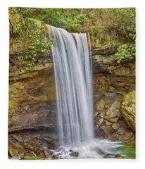 Cucumber Falls Fleece Blanket