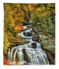 Cullasaja Falls Fleece Blanket