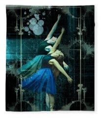 Cunha Ballet Dancer Transformation Fleece Blanket