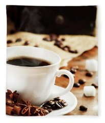 Cup Of Coffee Fleece Blanket