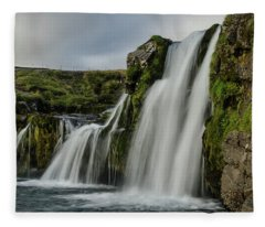 Church Mountain Waterfall Fleece Blanket