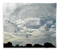 Curvy Clouds Fleece Blanket
