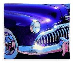 Custom 1949 Purple Buick Fleece Blanket
