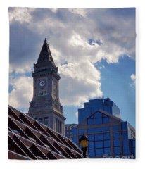 Custom House Clock Tower Fleece Blanket
