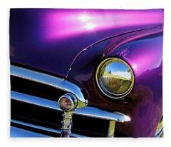 Custom Purple Chevy Fleece Blanket