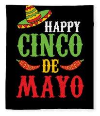 Cute Happy Cinco De Mayo Fleece Blanket
