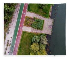 Cycling Path Fleece Blanket