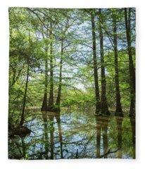 Cypress Forest Fleece Blanket