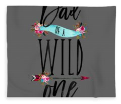 Dad Of A Wild One Shirt Boho 1st Birthday Daddy Family Tee Fleece Blanket