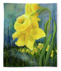Daffodil Dream Fleece Blanket
