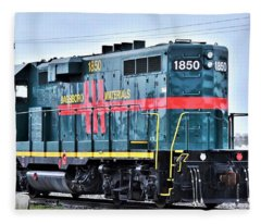 Dagsboro Materials Train Engine Fleece Blanket