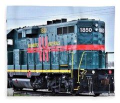 Dagsboro Materials Train Engine Fleece Blanket