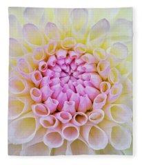 Dahlia Ryecroft Brenda T Flower Fleece Blanket
