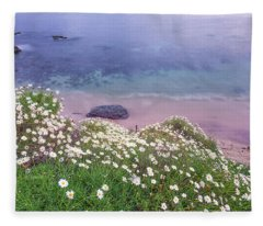 Dainty Daisies At The Cove Fleece Blanket
