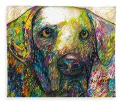 Daisy The Dog Fleece Blanket