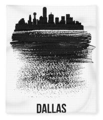 Dallas Skyline Brush Stroke Black Fleece Blanket