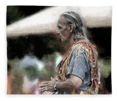 Dance Of The Woodland Elder Fleece Blanket