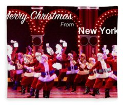 Dancing Santas Fleece Blanket