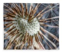 Dandelion Seed Head Fleece Blanket