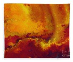 Daniel 6 27. He Delivers And Rescues Fleece Blanket