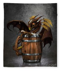 Dark Beer Dragon Fleece Blanket