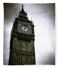 Dark Big Ben Fleece Blanket