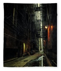 Dark Chicago Alley Fleece Blanket