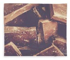 Dark Chocolate Delight Fleece Blanket