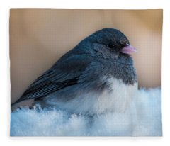 Dark-eyed Junco Fleece Blanket