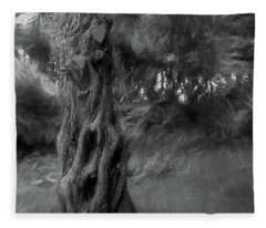 Dark Wind In The Cedars Fleece Blanket
