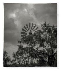 Dark Windmill Fleece Blanket