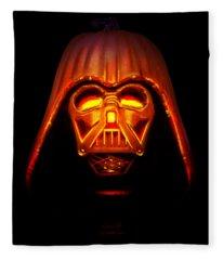 Darth Pumpkin Fire Fleece Blanket