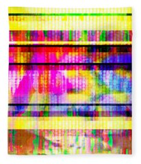 Databending #2 Hidden Messages Fleece Blanket
