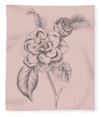 Datura Purple Flower Fleece Blanket