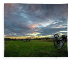 Dawn At Gettysburg Fleece Blanket