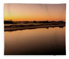 Dawn Light, Ogunquit River Fleece Blanket