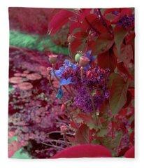 Day Of Red Fleece Blanket