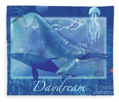 Daydream Whales Fleece Blanket
