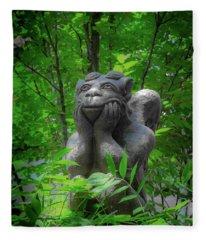 Daydreaming Gargoyle Fleece Blanket