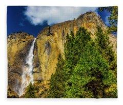 Dazzling Yosemite Falls Fleece Blanket