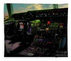Dc10 Cockpit Left Hand Seat 521210021 Fleece Blanket