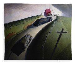 Death On The Ridge Road, 1935 Fleece Blanket