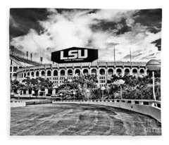Death Valley - Hdr Bw Fleece Blanket