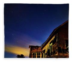 Decaying House In The Moonlight Fleece Blanket