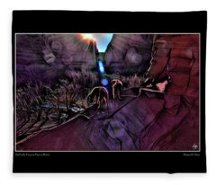 Dechelly Canyon Pups At Dawn Poster Fleece Blanket
