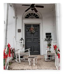Deck The Porch Fleece Blanket