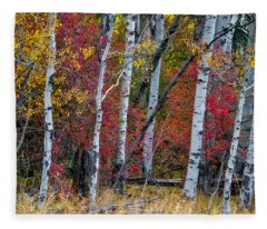 Deep Aspens Fleece Blanket